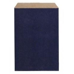 Pochette Cadeau Kraft Bleue 27 cm