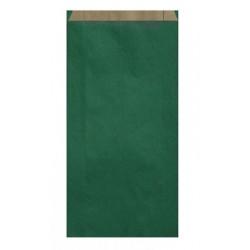 Pochette Cadeau Kraft Verte 27 cm