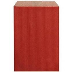 Pochette Cadeau Kraft Rouge 27 cm
