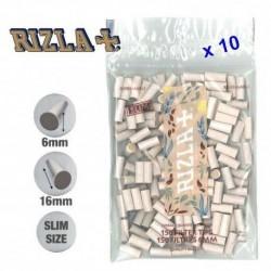 10 Sachets de Filtres Rizla Natura Slim 6 mm