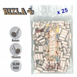 25 Sachets de Filtres Rizla Natura Slim 6 mm