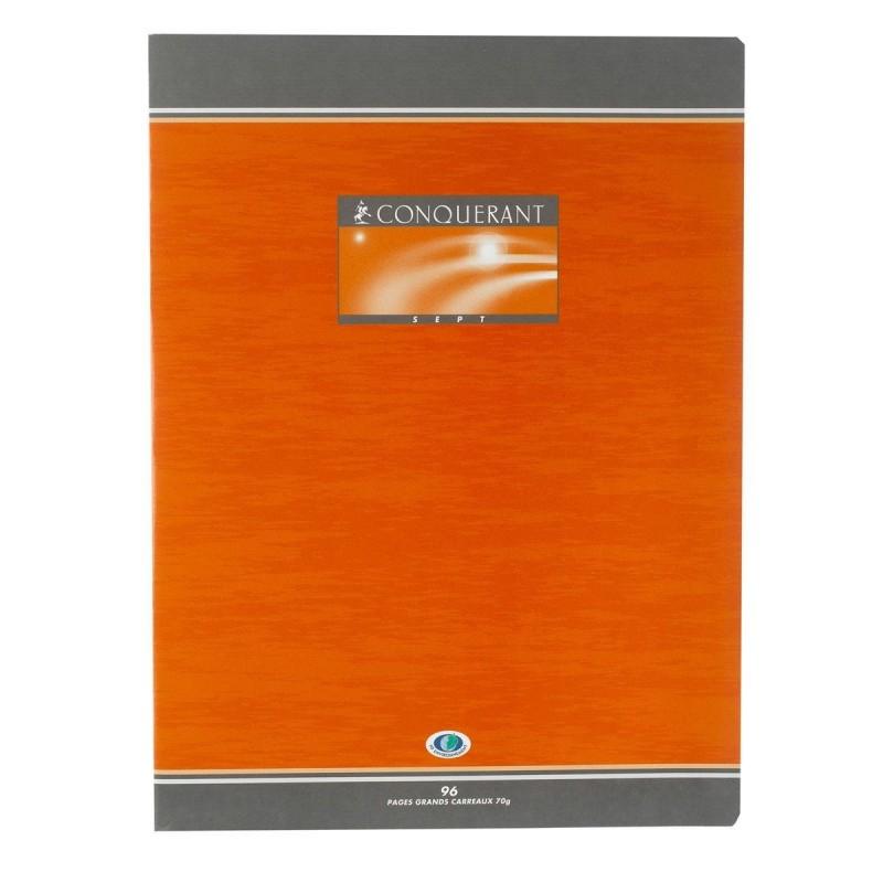 Cahier de Devoir à Spirales A5 100 Pages Grands Carreaux