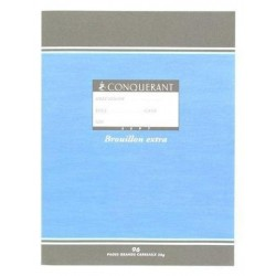 Cahier de Brouillon A5 96 Pages Grands Carreaux