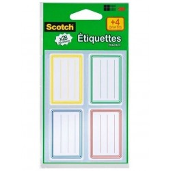 Etiquettes Ecolier Scotch 36 x 54 mm