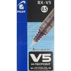 Stylo Pilot Noir Roller Encre Liquide V5 Hi-Tecpoint