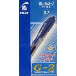 Stylo Pilot Bleu Roller Ball G2 Encre Gel 07