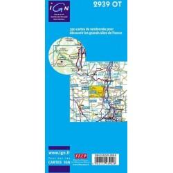 Carte IGN Top 25 Gorges de l'Ardèche
