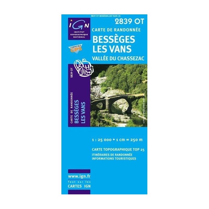 2697464cfb Carte IGN Top 25 Bessèges Les Vans