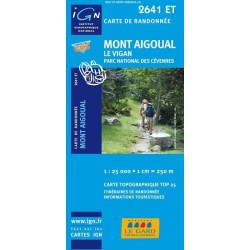 Carte IGN Top 25 Mont Aigoual