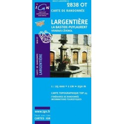 Carte IGN Top 25 Largentière