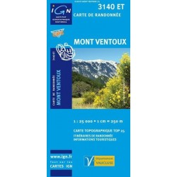 Carte IGN Top 25 Mont Ventoux
