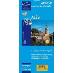 Carte IGN Top 25 Alès