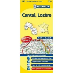 Carte Michelin Cantal Lozère