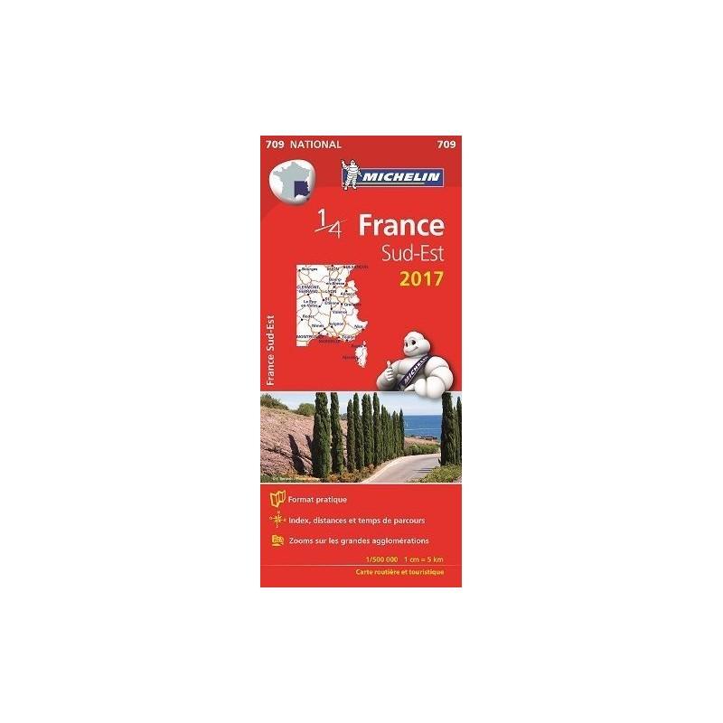 Carte Michelin 1/4 France Sud Est - Cartes et Guides ...