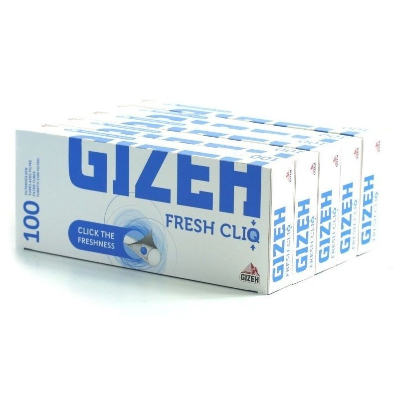 100 Tubes à Cigarette Fresh Cliq Menthol x 10
