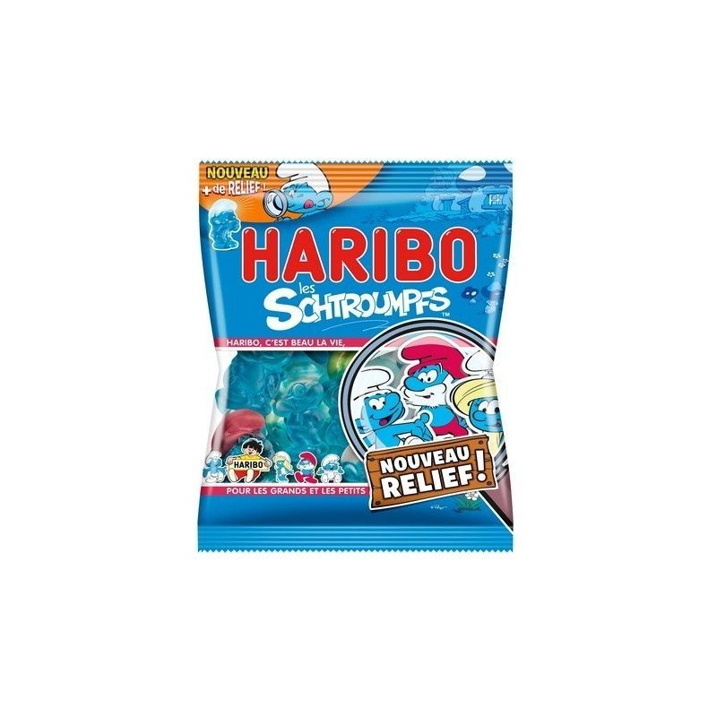 Sachet Bonbons Haribo Schtroumpfs 120 Grammes