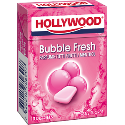 Hollywood Chewing Gum Bubble Fresh en Dragées