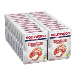 Hollywood Chewing Gum Blancheur Fraise en Dragées