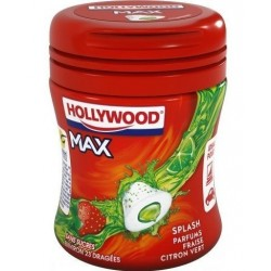 Bottle Hollywood Chewing Gum Max Fraise Citron Vert