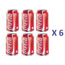 6 Canettes de Coca Cola 33 cl