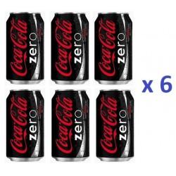 6 Canettes de Coca Cola Zéro 33 cl