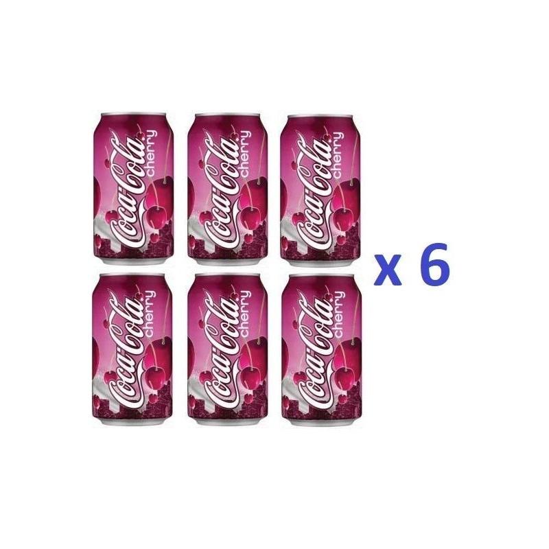 6 Canettes de Coca Cola Cherry 33 cl