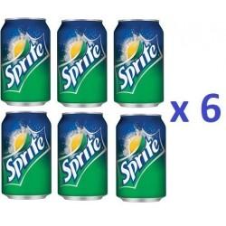 6 Canettes de Sprite 33 cl