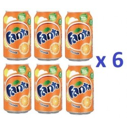 6 Canettes de Fanta Orange 33 cl