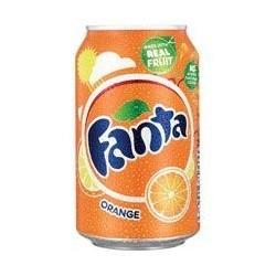 6 Canettes de Fanta Orange 33 cl