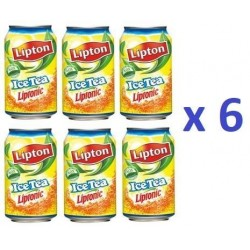 6 Canettes de Lipton Ice Tea 33 cl