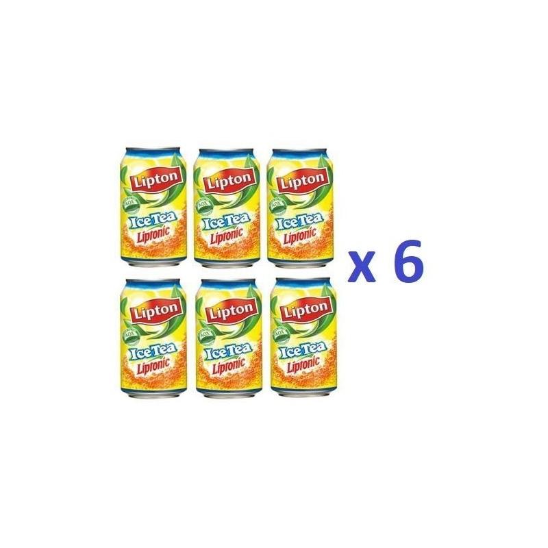 6 Canettes de Lipton Ice Tea 33 cl