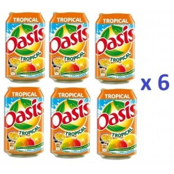 6 Canettes de Oasis Tropical 33 cl