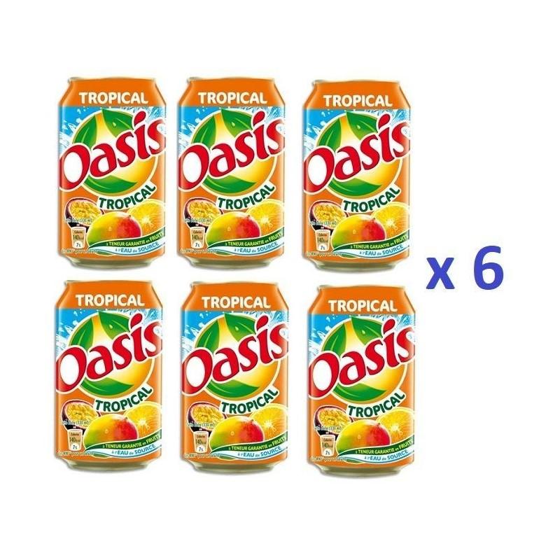 6 Canettes de Oasis Tropical 33 cl