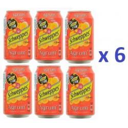 6 Canettes de Schweppes Agrum 33 cl