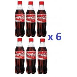 6 Bouteilles de Coca Cola 50 cl