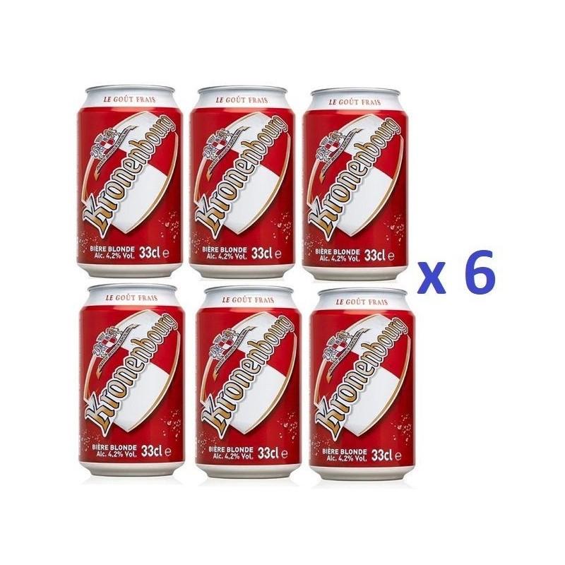6 Canettes de Bière Kronenbourg 33 cl