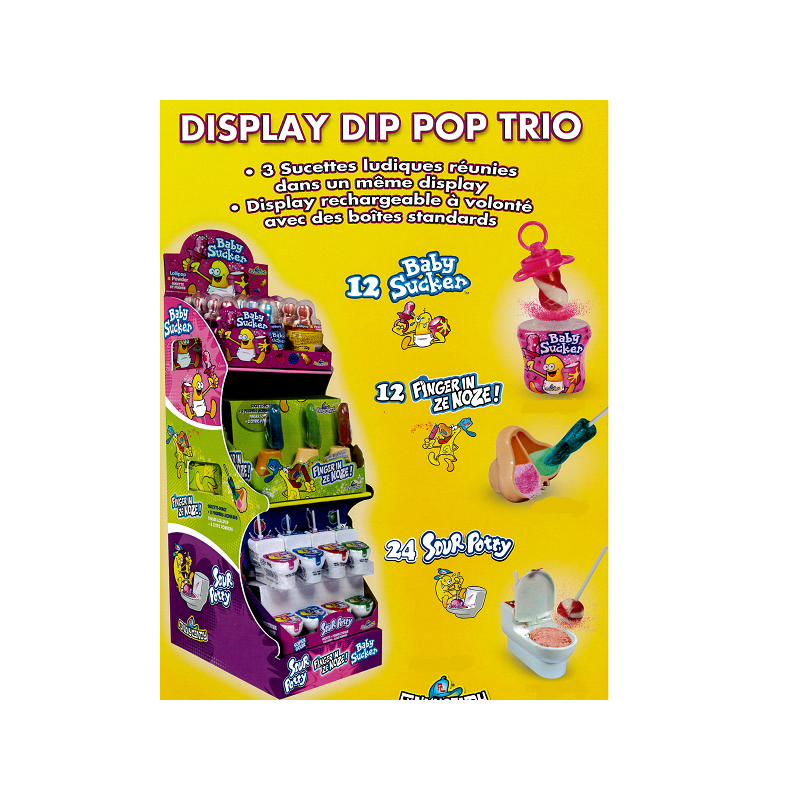Colis Bonbons Dip Pop Trio