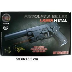 Pistolet à Billes Laser en Métal 20 cm