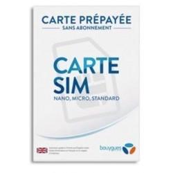Carte Sim Bouygues Telecom