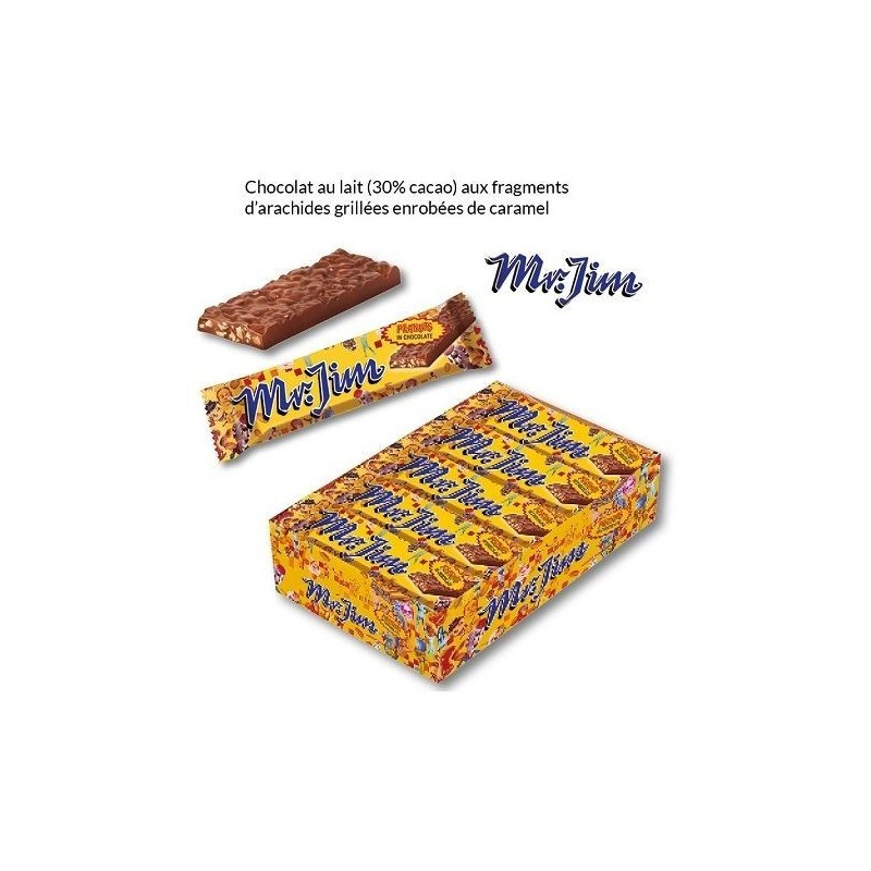 Barres Cacahuètes et Chocolat Mr. Jim