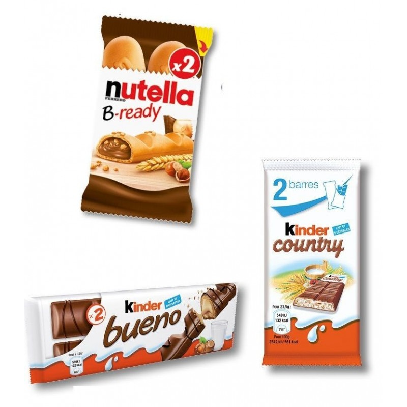 Colis Kinder Bueno, Kinder Country et Nutella B-Ready