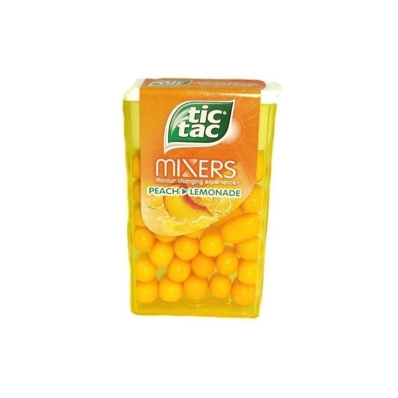 12 Étuis Tic Tac de 100 Pastilles Mixers Pêche Limonade