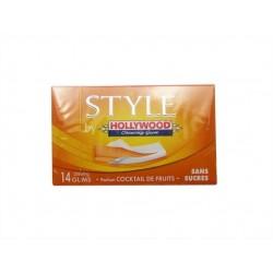 Hollywood Style Cocktail de Fruit 18 étuis de 14 Chewing Gum en Tablette