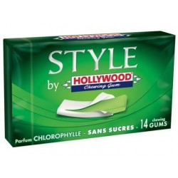 Hollywood Style Chlorophylle 18 étuis de 14 Chewing Gum en Tablette