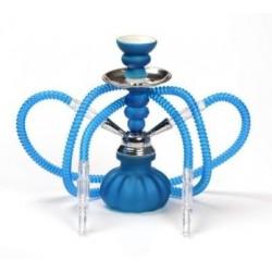 Chicha Bleu Fluo 2 Tuyaux 25 cm