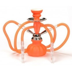 Chicha Orange Fluo 2 Tuyaux 25 cm