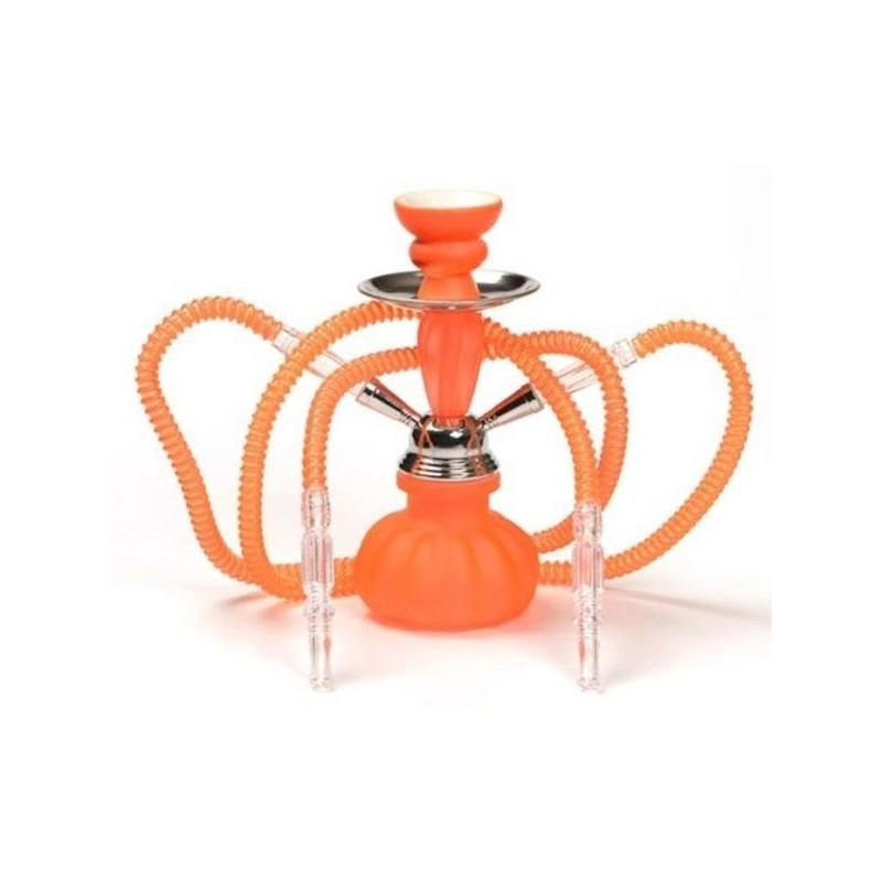 Chicha Orange Fluo 2 Tuyaux 25 cm
