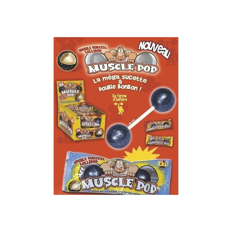Sucettes Muscle Pop