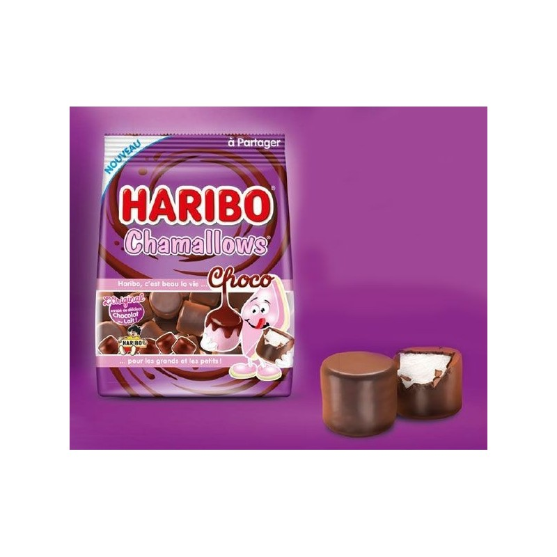 Sachet Bonbons Haribo Chamallows Choco 75 Grammes