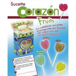 Sucettes Cœur Fruits